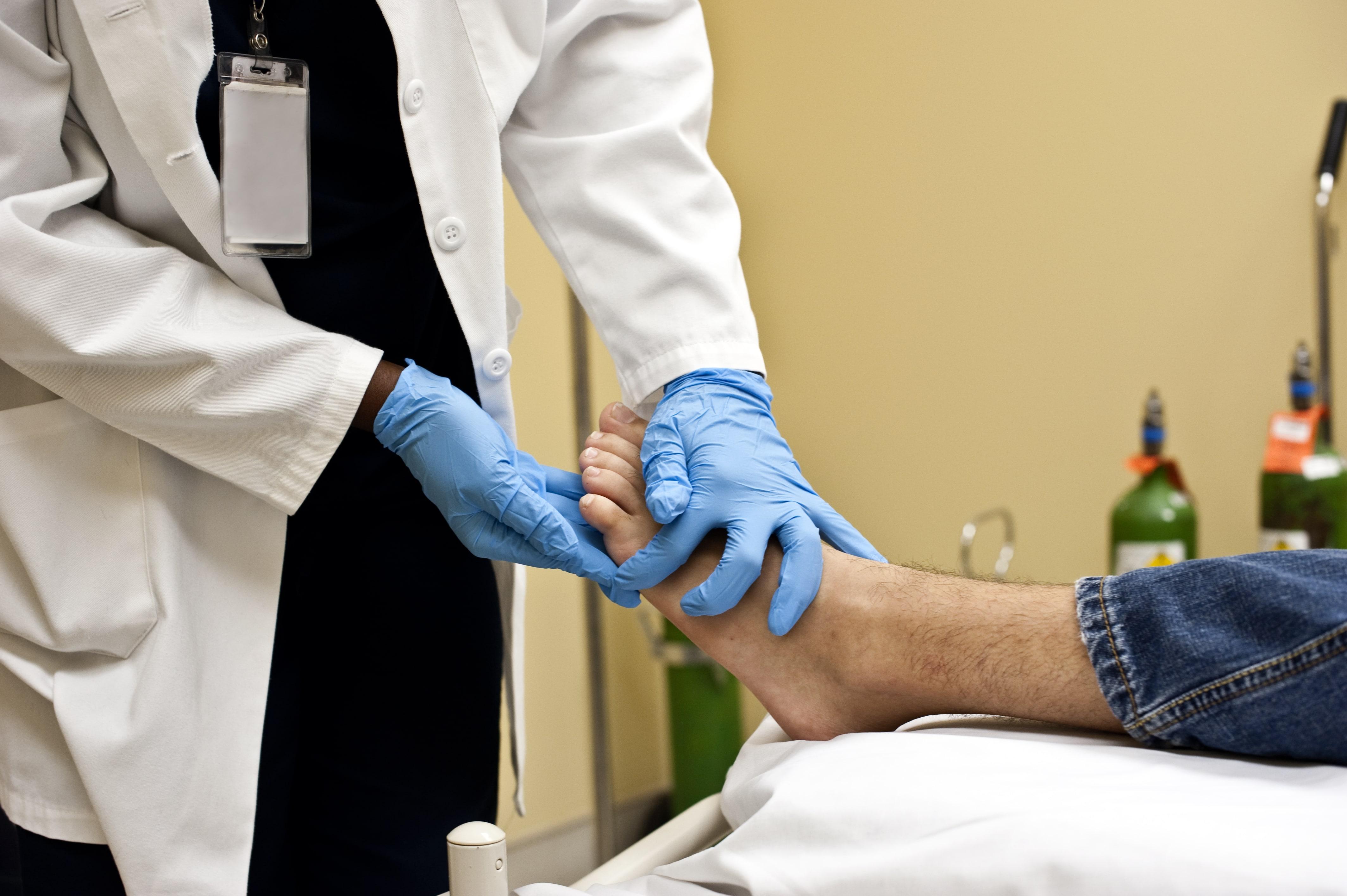 Wundversorgung des diabetischen Fußes